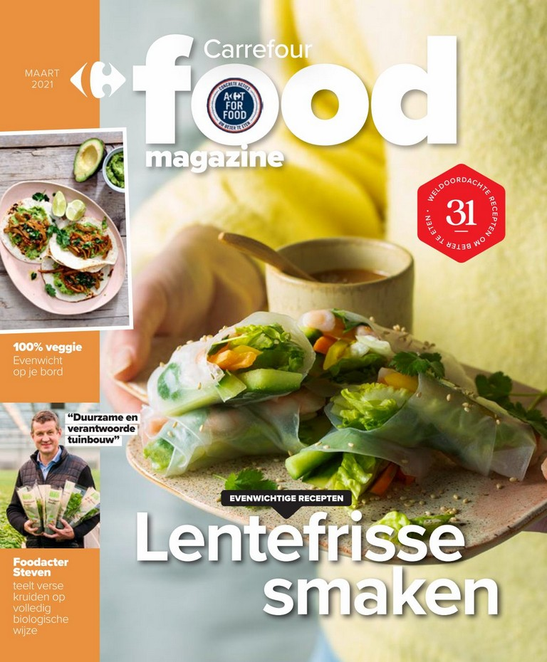 Carrefour - Food Magazine - Maart 2021
